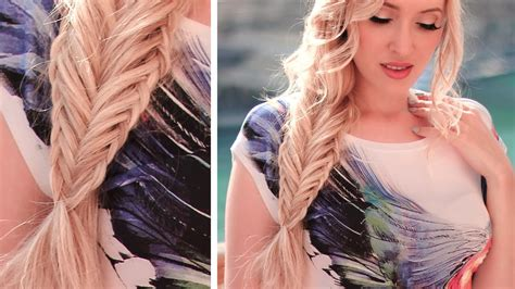 Twisted With An Edge fishtail braid with a twisted edge hairstyle hair