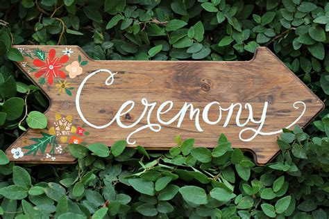 Handmade Sign Ideas - handmade rustic wedding finds ceremony sign onewed