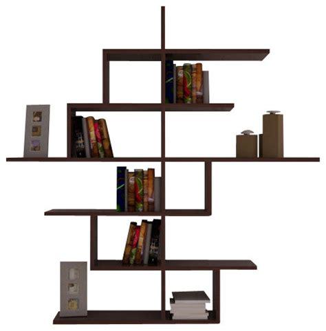 modern wall mounted bookcase cizgi no4 wall mounted bookcase by decortie walnut