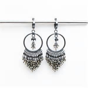 large black chandelier earrings black chandelier earrings