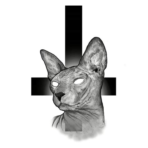 sphinx tattoo sphynx sphinx cat sketch cross wacom