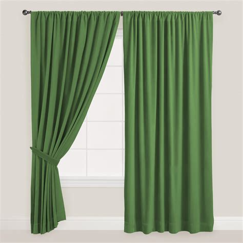 dark green curtains drapes dark green velvet dual tab top curtain world market