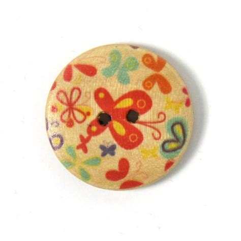 Sale Wooden Button Kancing Kayu Butterfly Motif wood button papillon colore beige buttonsfavorable buying at our shop