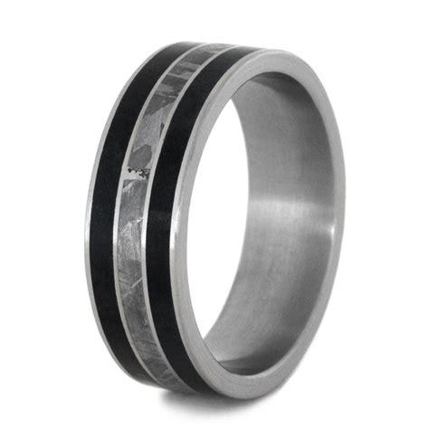 black jade ring black jade ring with gibeon meteorite in titanium band