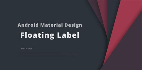 android studio floating layout android material design floating labels for edittext