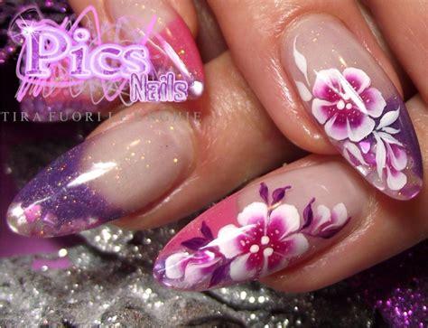 unghie con i fiori ricostruzione unghie oristano pics nails