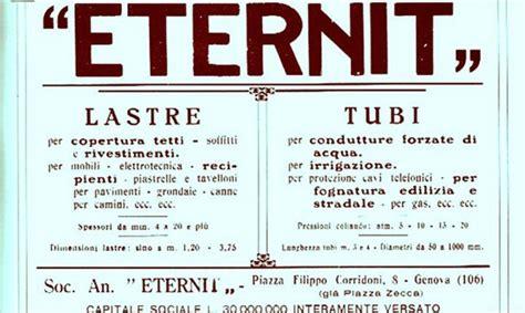 la fine delleternit 8804414510 eternit la storia del cemento che uccide 1901 2014 panorama