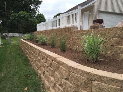 Landscaping Small Backyard Interlocking Retaining Wall Davis Landscaping