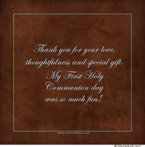 thank you letter chocolate gift communion boy thank you card photo blue brown