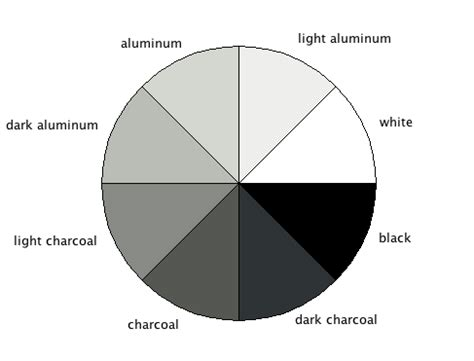 shades of gray names gray