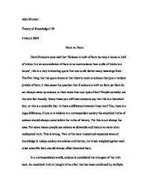 Science Essay Format by Science Essay Tok International Baccalaureate Theory Of Knowledge Marked By Teachers