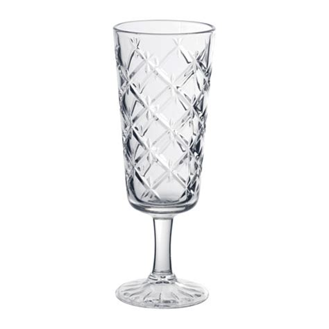 Flimra champagne glass clear glass patterned 19 cl ikea