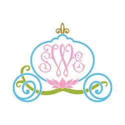 cinderella princess carriage frame svg cuttable designs