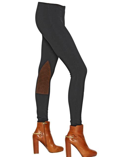 Legging Polos T3009 1 polo ralph jodhpur cotton jersey leather in black lyst