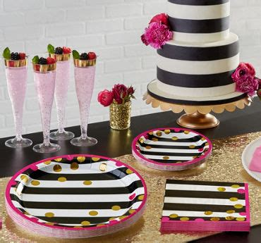 pink and black bridal shower decorations bridal shower themes tableware supplies city