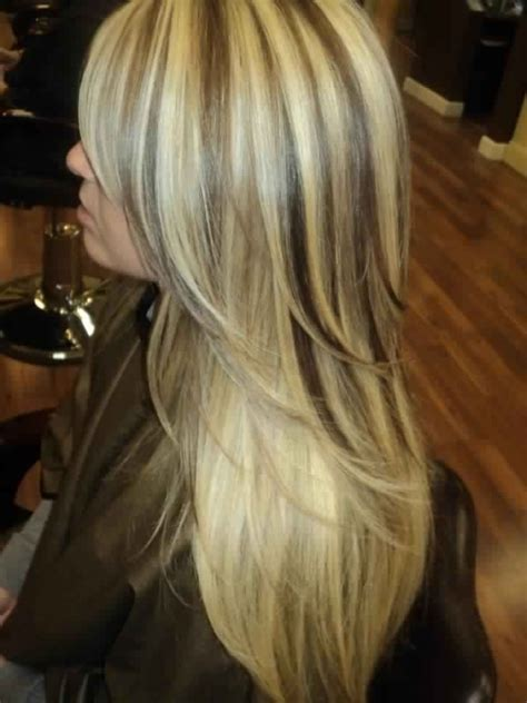 long blonde hair with dark low lights gorgeous long layered light blonde hair with dark brown