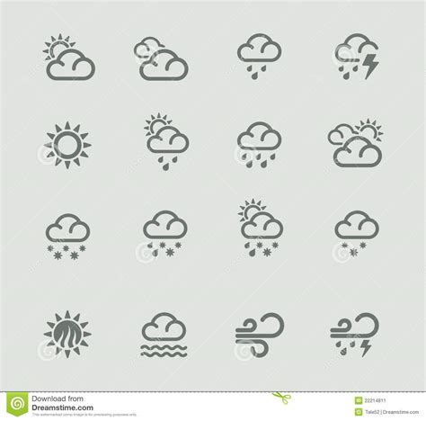 vector weather forecast pictogram set part 1 stock image