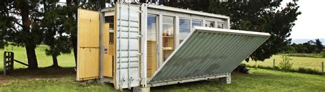 Affordable Cabin Plans port a bach a portable teeny tiny shipping container home