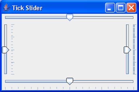 java swing slider show tick marks slider 171 swing jfc 171 java