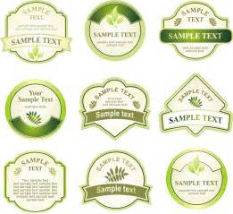 free sticker template green bottle label vector free vector 4vector