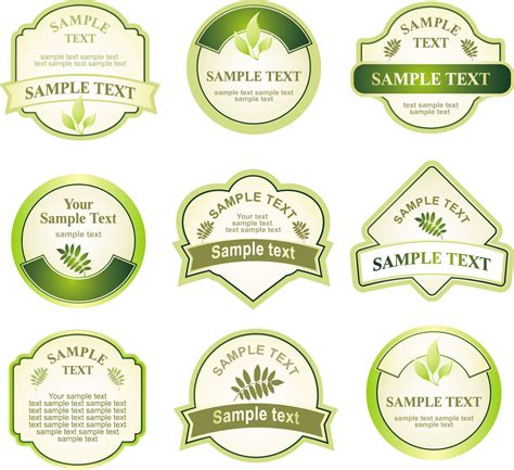 free product label design templates green bottle label vector free vector 4vector