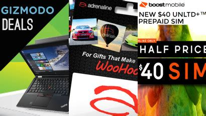 Gift Cards Half Off - deals 40 off adrenaline gift cards half price xbox toys 40 off lenovo pcs