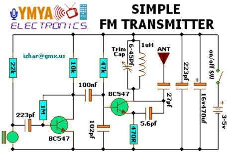 three transistor fm transmitter simple fm transmitter