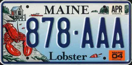 Vanity Plates Maine by Maine