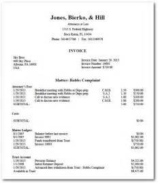 Law Firm Invoice Template Attorney Invoice Free Printable Documents
