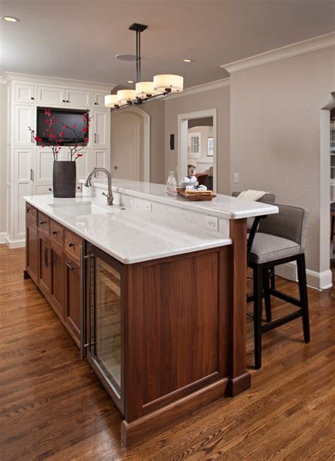 Kitchen Island With No Sink Paint Color Ideas For Stained Woodwork