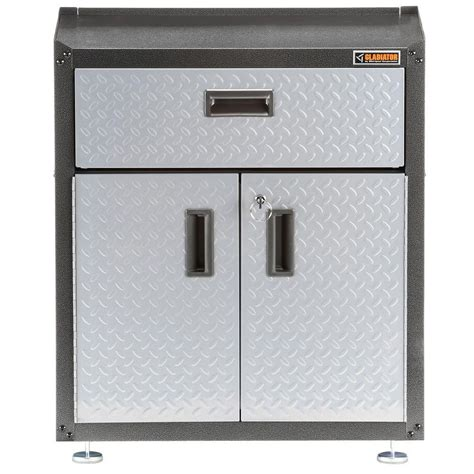 Garage Storage Cabinet With Doors Gladiator Ready To Assemble 31 In H X 28 In W X 18 In D