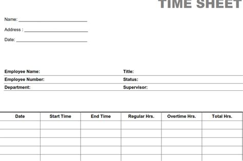 printable blank employee time sheets image gallery blank timesheets