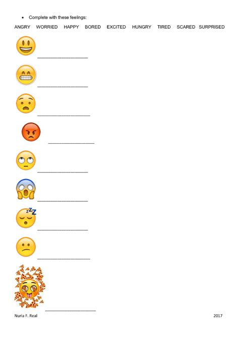 Feelings Worksheet by 301 Free Feelings And Emotions Worksheets