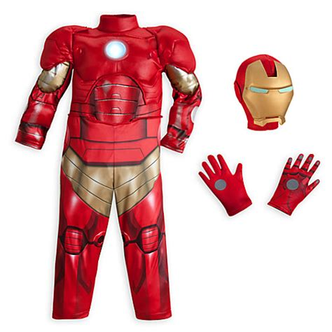 disney store deluxe iron man light costume outfit