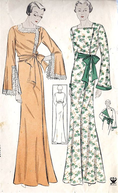pattern for kimono dressing gown the vintage dressing gown part 1 ren 233 e and the cat s meow