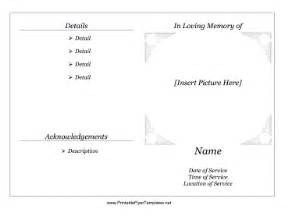 Free Printable Memorial Templates by Free Event Program Template Book Covers