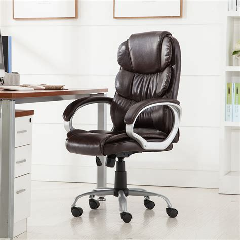 Best Ergonomic Executive Office Chair by Pu Leather Ergonomic High Back Executive Best Desk Task