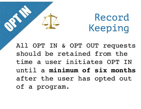 Records Opt Out Sms Opt In Opt Out Policy