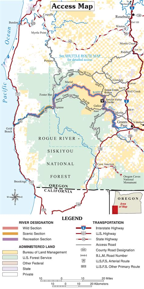 map of oregon rivers part ii and scenic rivers act in oregon and