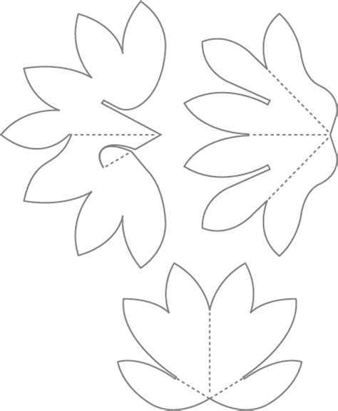How To Make A Pop Up Water Lily Card Paper Water Template