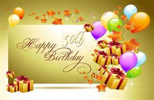 happy 50th birthday greetings in