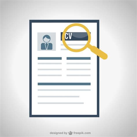 How To Write Resume For Job Interview by Searching Cv Vector Free Download