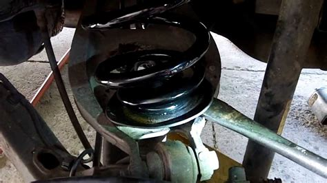 how to change rear coil spring on a 2006 hyundai azera diy how to change rear springs on car youtube