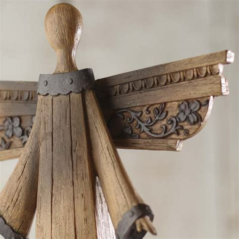 rustic wood home decor rustic wood look angel table and shelf sitters home decor