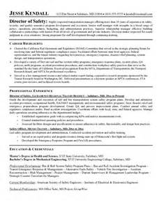 Safety Manager Resume by This Free Sle Was Provided By Aspirationsresume