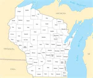 a large detailed wisconsin state county map