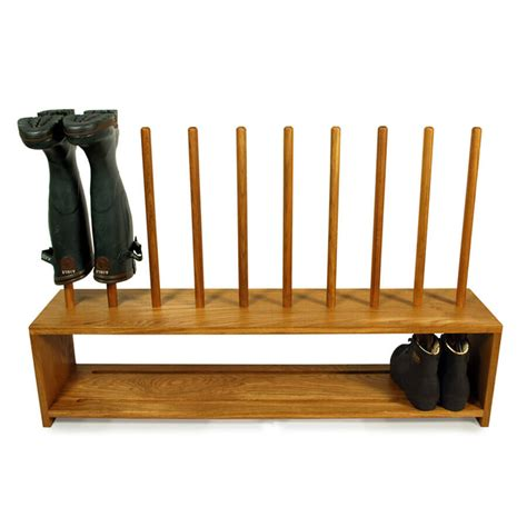 Boot Shoe Rack by Oak Wellington And Shoe Rack 5 Pair Boot And Saw