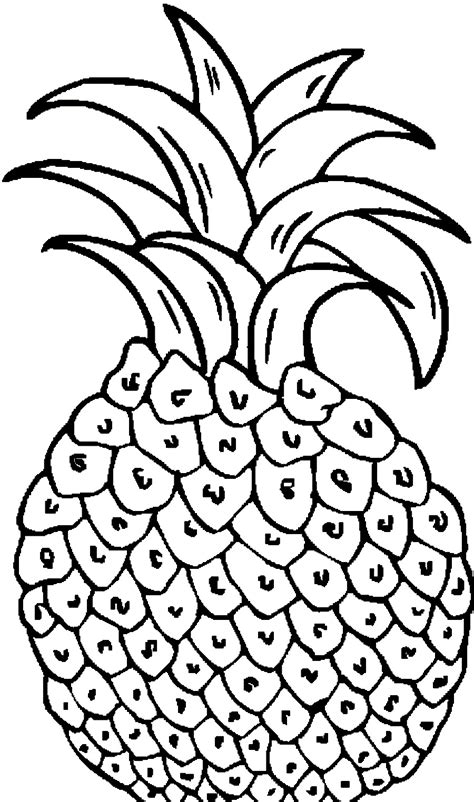 pineapple coloring page  coloring pages