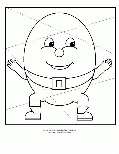Humpty Dumpty Coloring Pages Free Coloring Home Humpty Dumpty Coloring Page
