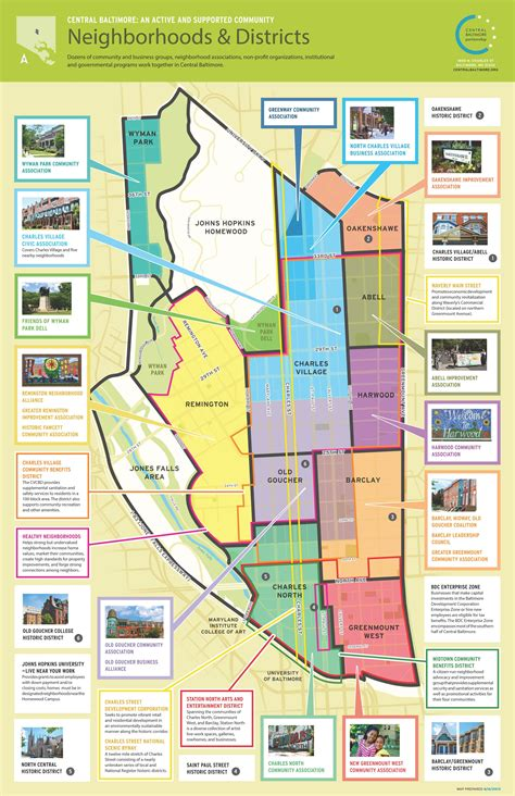 map of central neighborhoods central baltimore includes 10 neighborhoods and 1